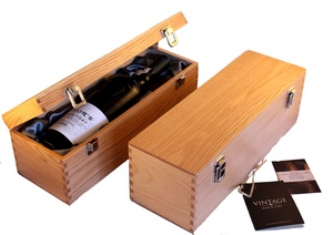 Solid Oak Gift Box with Silk Lining