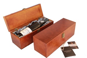 Single Bottle Stained Wooden Gift Box with Silk Liner (Was £9.95 now £7.95)