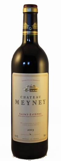 Chateau meyney 2003 vintage wine and port for Chateau meyney