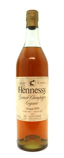 Hennessy Grand Champagne Cognac , 1959