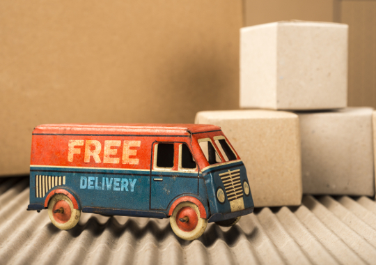 Free delivery for UK orders over £100